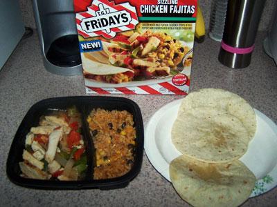 TGI Fridays Chicken Fajitas Frozen Meal