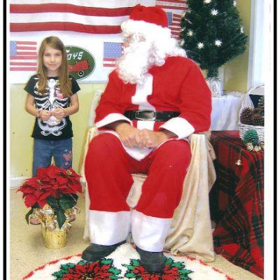 Picture with Santa….Sorta!