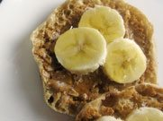 english muffin peanut butter banana