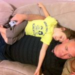 Who Needs a Bed When You Have a Dad! : Wordless Wednesday