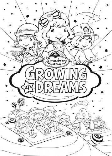 prep and landing coloring pages - strawberry shortcake coloring pages growing up dreams