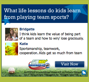 Team Sports Encourages Life Lessons : $500 Sports Gift Certificate Giveaway
