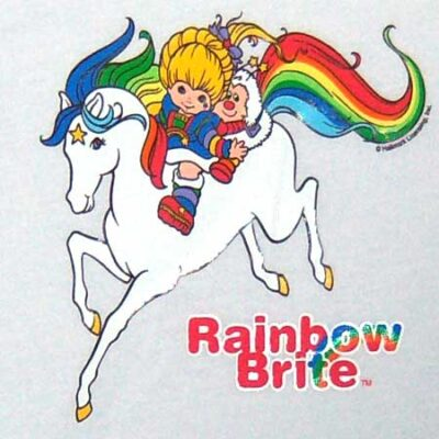 He Dressed up as Rainbow Brite for Halloween