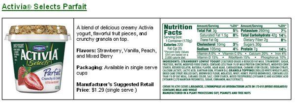Activia Promotes a Nutritious and