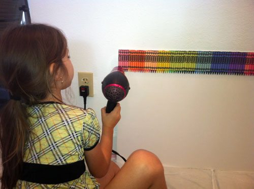 our melted crayon art project and tips. Black Bedroom Furniture Sets. Home Design Ideas