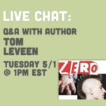 Live Chat Tom Leveen : 1pm EST 5/1