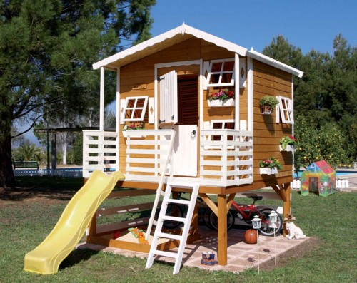 Dad can you build me a clubhouse for Boys outdoor playhouse