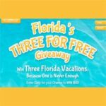 Enter to Win Three Florida Vacations : (Ends 6/30)