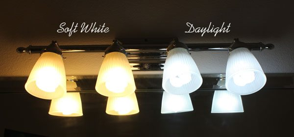 Soft White Vs Daylight Light Bulbs Before And After