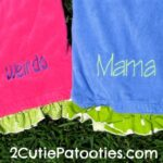 Monogrammed Beach Set from 2 Cutie Patooties Giveaway : (Ends 7/5)