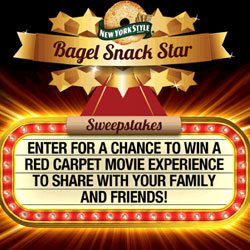Win a Red Carpet Movie Experience : New York Style Bagel Chips