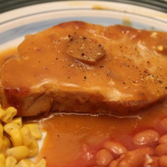 Golden Mushroom Pork Chops Are My Favorite!