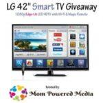 LG 42″ Smart TV LED HDTV Giveaway : (Ends 11/26)
