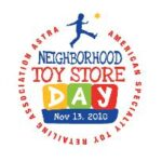 Saturday November 10th is Neighborhood Toy Store Day!
