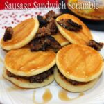 Sausage Sandwich Scramble with Aunt Jemima Lil' Griddles