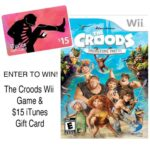 The Croods Wii Game and iTunes Gift Card Giveaway : (Ends 4/8)