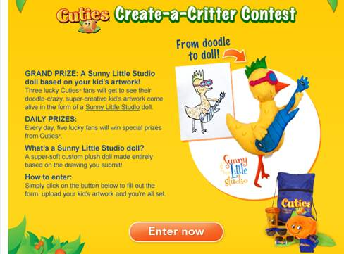 Create a Critter Contest