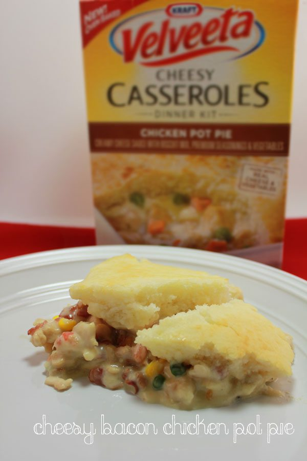 Cheesy Bacon Chicken Pot Pie