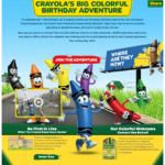 Crayola is Celebrating 110 Years Win a Family Vacation To Help Celebrate
