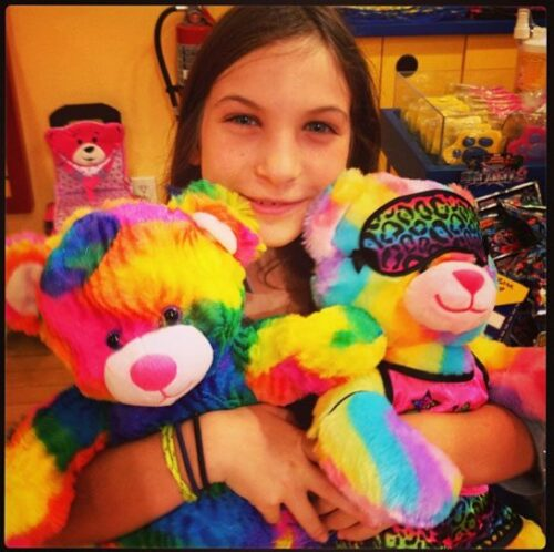Mother daughter bonding at Build-A-Bear