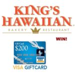 Kings Hawaiian BBQ $200 Gift Card Giveaway : Ends (6/17)