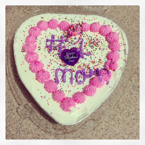 Hand Decorated Cake From Honey For Mother's Day