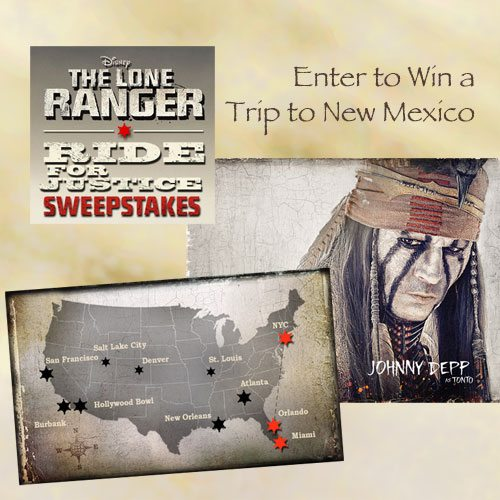 "Win a Trip to New Mexico ""The Lone Ranger Ride for Justice Sweepstakes"""