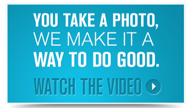 Selfless Selfies Donate a Photo App