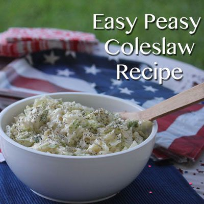 Easy Peasy Coleslaw Recipe