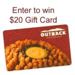 Celebrate Back To School at Outback $20 Giveaway : (Ends 8/31)