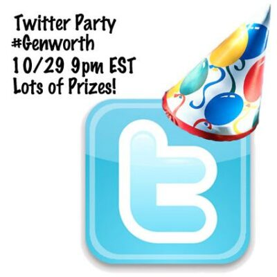 #Genworth Twitter Party 10/29 9pm EST Lots of Prizes!