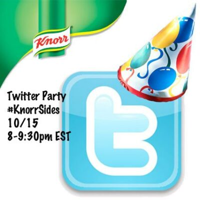 Twitter Party Win Great Prizes #KnorrSides 10/15 8pm EST