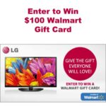 LG Entertainment Black Friday $100 Walmart Gift Card Giveaway : (Ends 12/13)