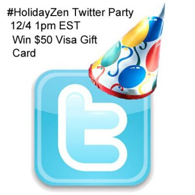#HolidayZen Twitter Party 12/4 1pm EST Great Prizes