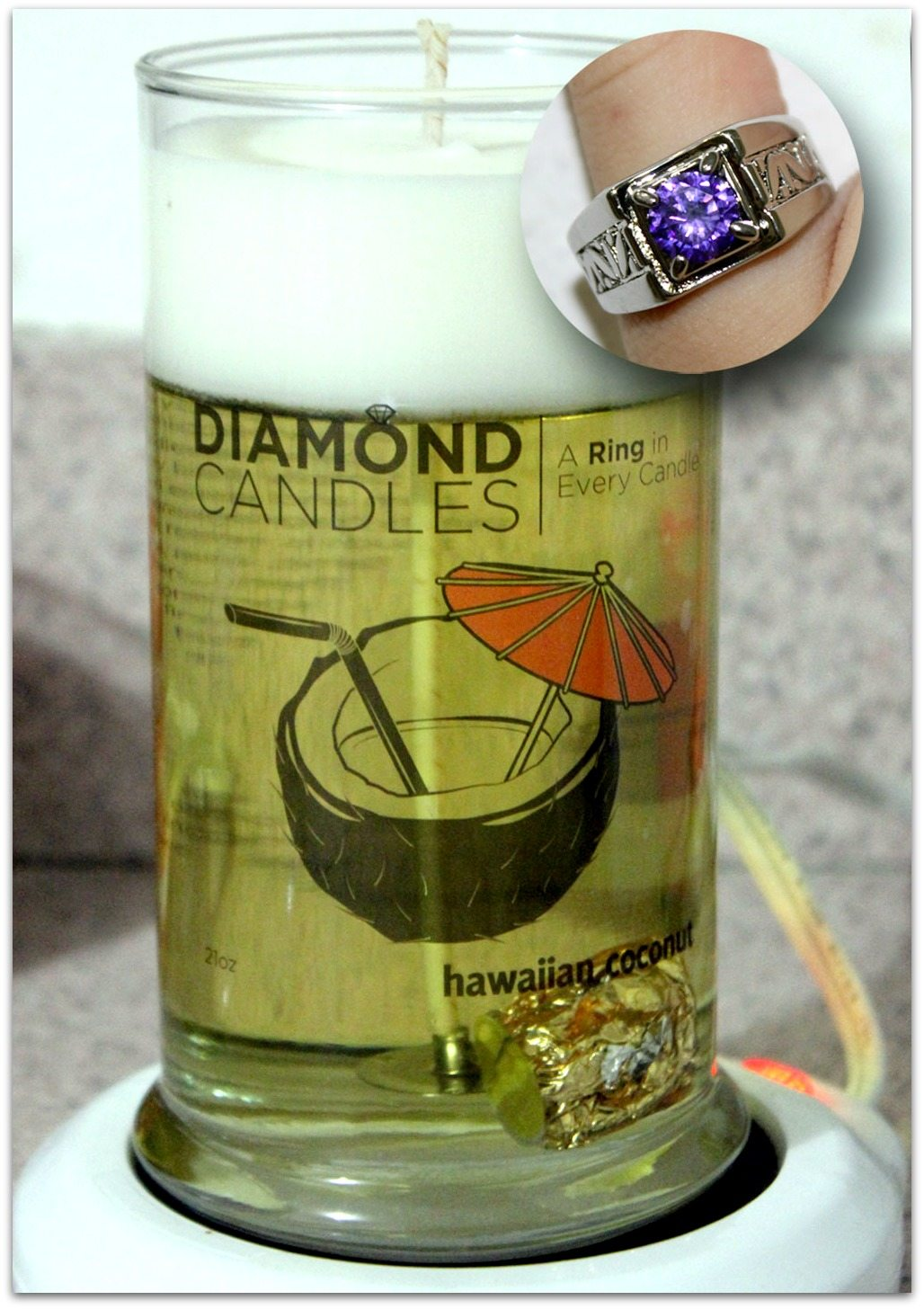 Diamond Candle and Ring