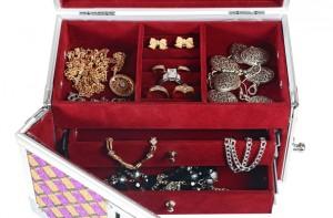 metallic chest box for jewelry