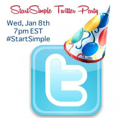 Keep Your New Year's Resolutions Simple Join the #StartSimple Twitter Party!