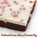 Happy National Cream Cheese Brownie Day : February 10th