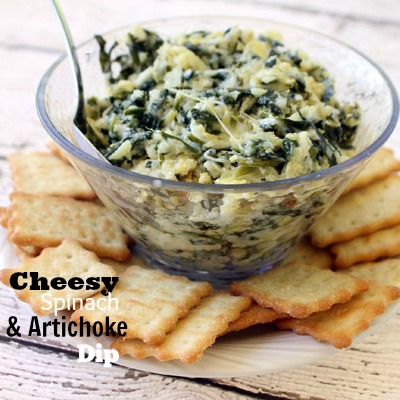 Cheesy Spinach & Artichoke Dip Recipe