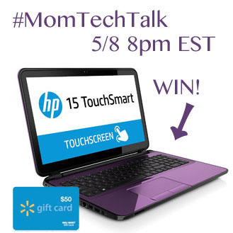 Twitter Party #MomTechTalk (#2) 5/8 8pm EST win a Laptop!