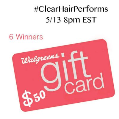Twitter Party 5/13 8pm EST #ClearHairPerforms
