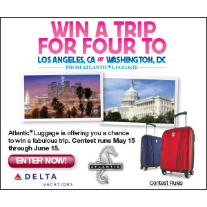 Win a Family Trip for 4 From Atlantic Luggage