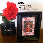 DIY Shelf Liner Picture Frame