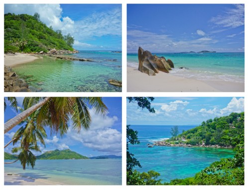 Beach on Praslin island