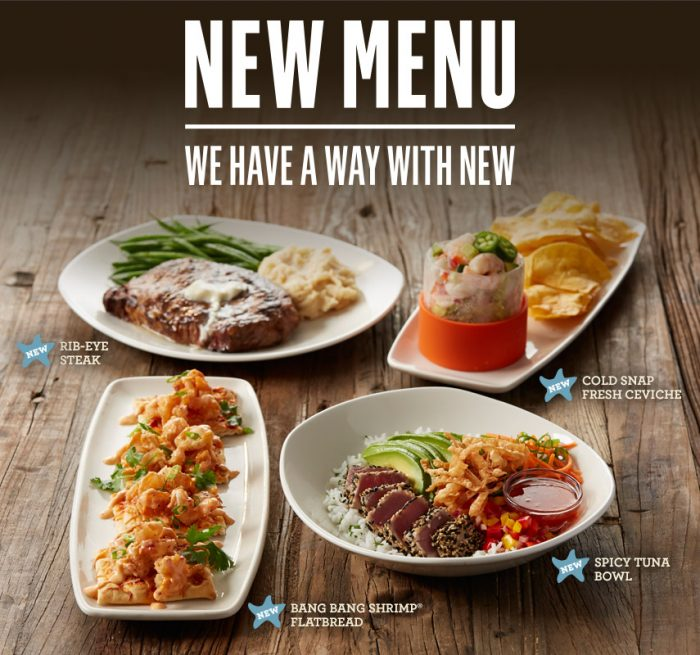 Try The New Menu At Bonefish Grill