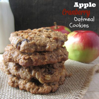 Apple Cranberry Oatmeal Cookies Recipe