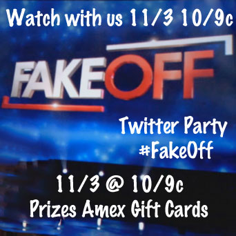 Join Me Monday 11/3 @ 10/9c for a #FakeOff Twitter Party