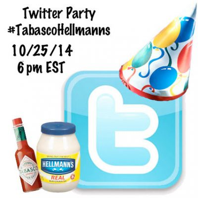 Twitter Party #TabascoHellmanns NEW DATE 10/25 6pm EST