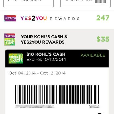 Yes2You Rewards and $250 Kohl's Gift Card Giveaway : (Ends 10/16)