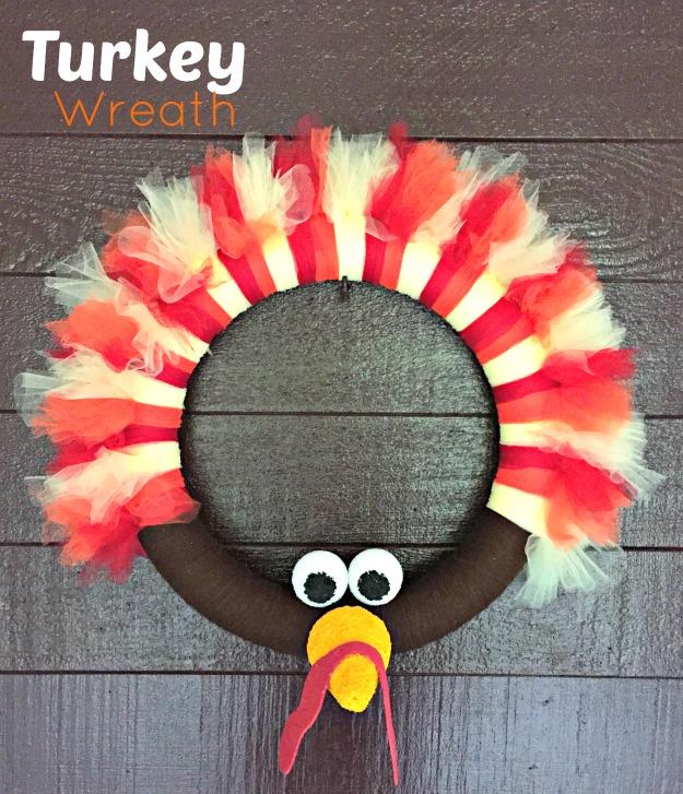 Turkey Wreath Thanksgiving Craft